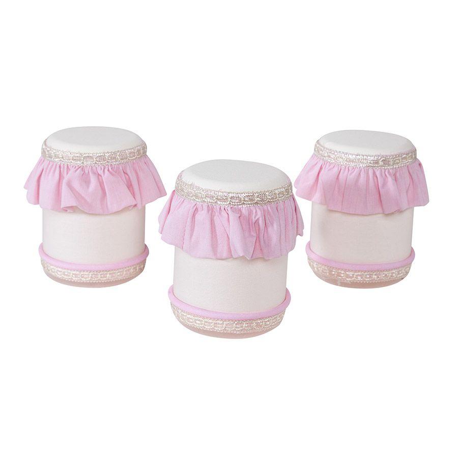 Jogo de Potes Plástico Kit Realeza Rosa