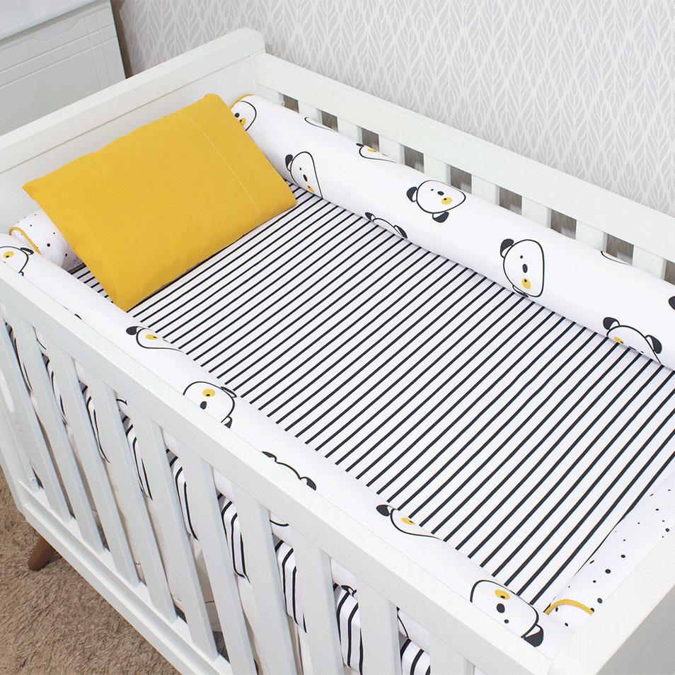 Kit de Berço 07 Peças Coleção Black White Cachorro
