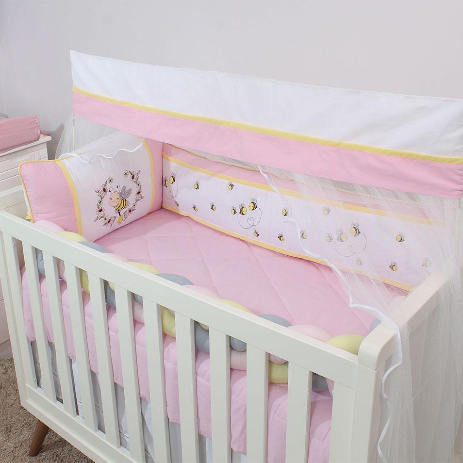Kit de Berço Abelhinha 07 Peças  - Toca do Bebê