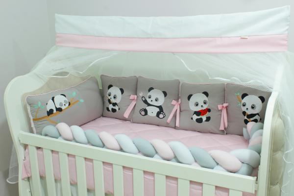 Kit de Berço Almofadinhas Little Panda 10 Peças