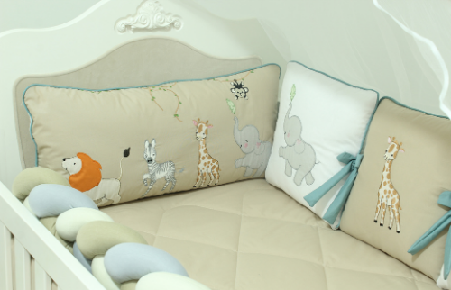 Kit de Berço Almofadinhas Mali 10 Peças  - Toca do Bebê