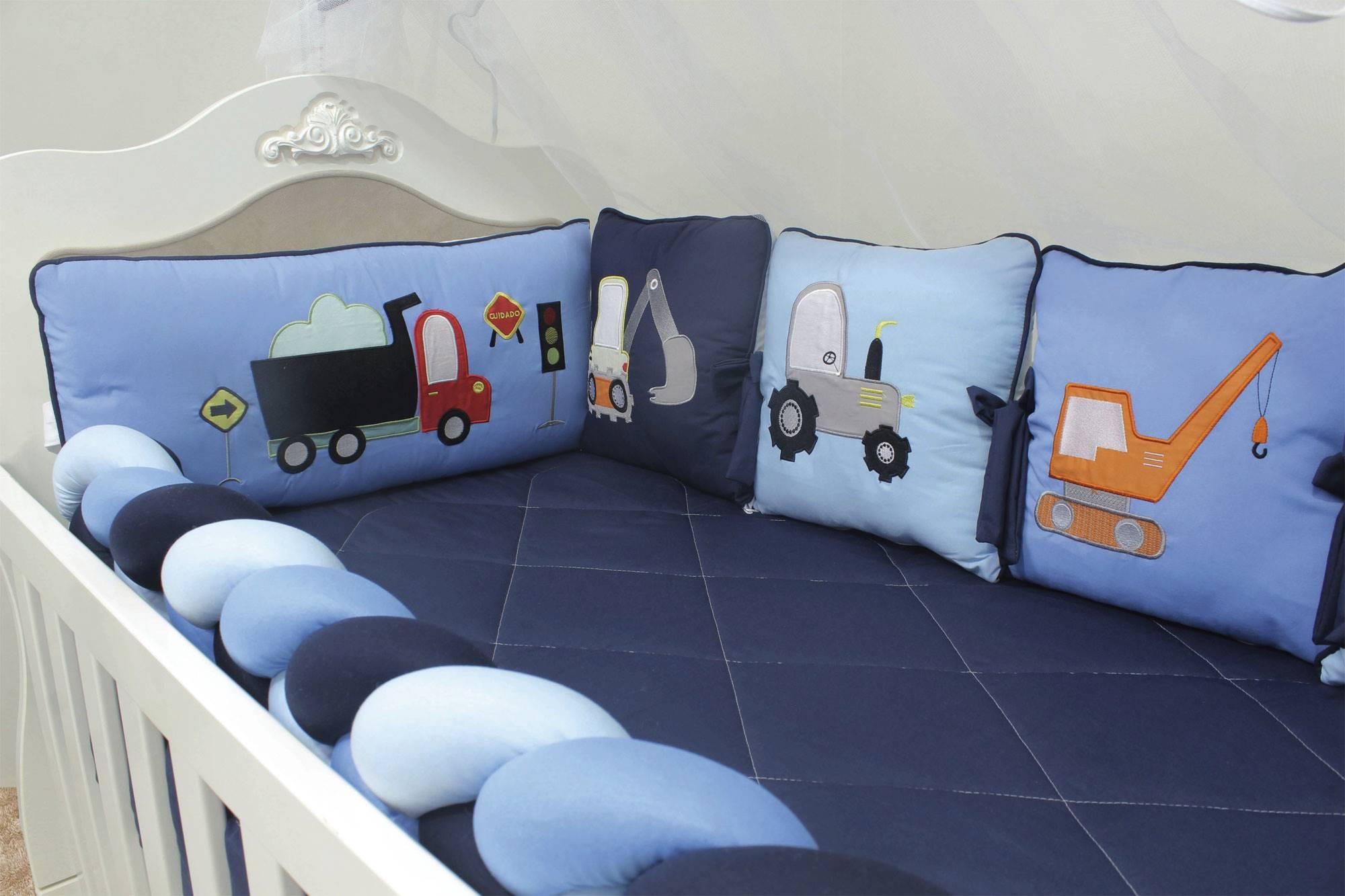 Kit de Berço Almofadinhas Truck 10 Peças  - Toca do Bebê
