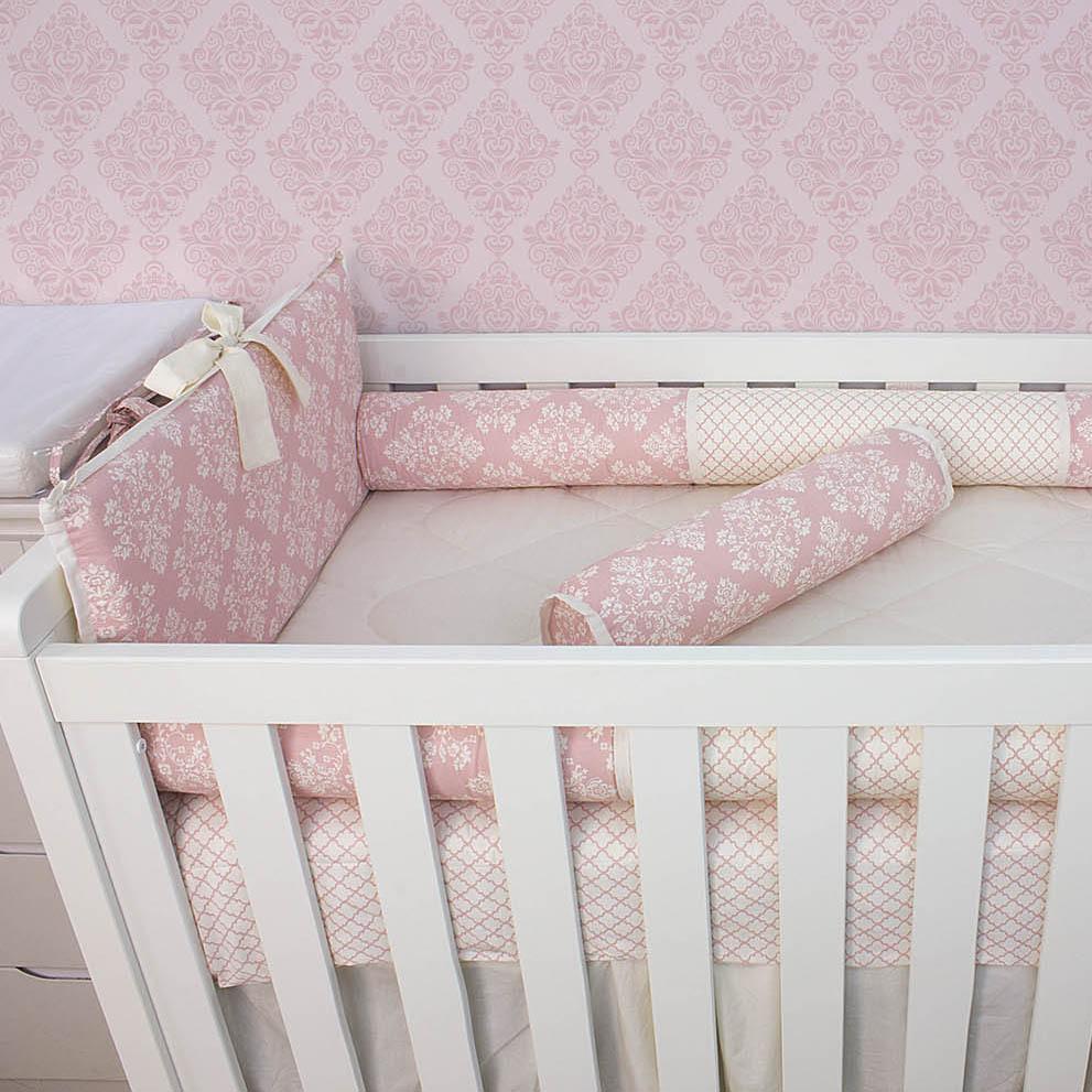 Kit de Berço Amore Rosê 08 Peças   - Toca do Bebê