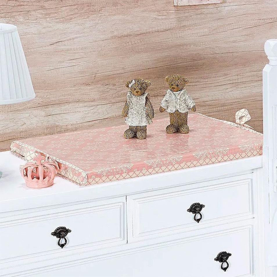 Kit de Berço Amore Rosê 09 Peças  - Toca do Bebê