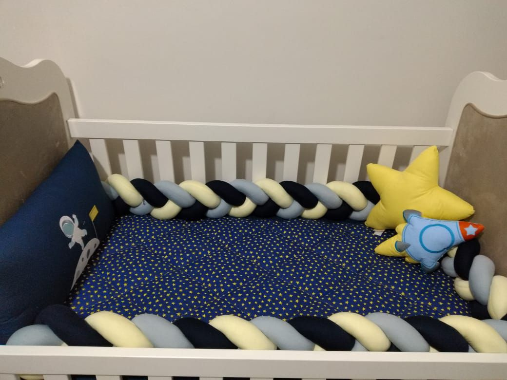 Kit de Berço Astronauta 08 Peças  - Toca do Bebê