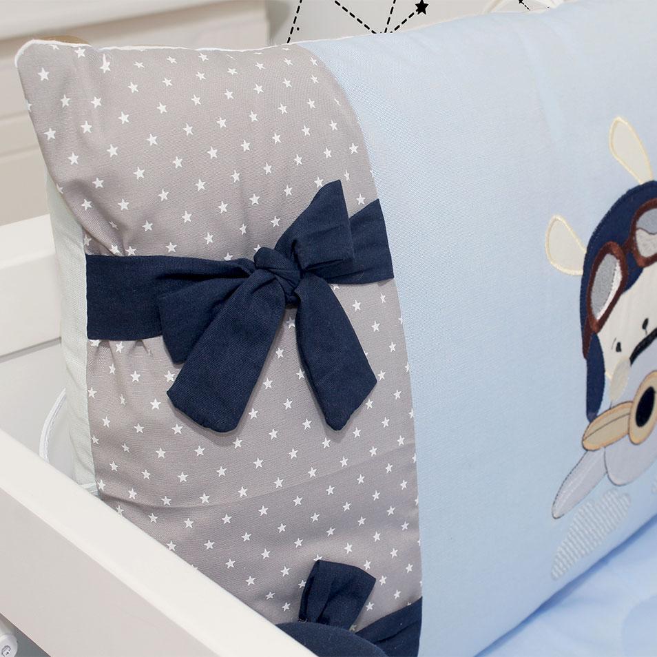 Kit de Berço Aviador 08 Peças  - Toca do Bebê