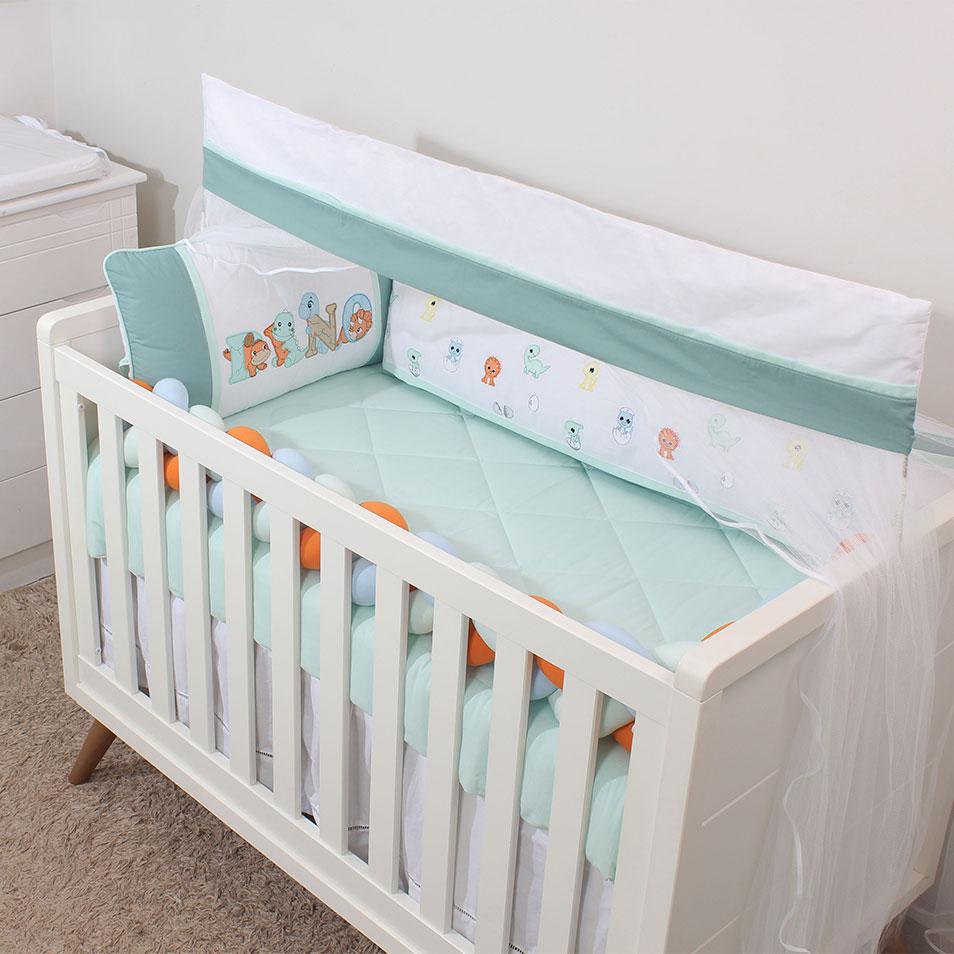 Kit de Berço Baby Dino 08 Peças   - Toca do Bebê