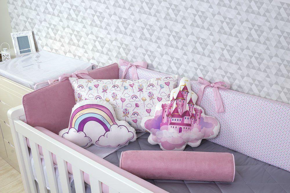Kit de Berço Ballet 08 Peças (Padrão Americano)  - Toca do Bebê