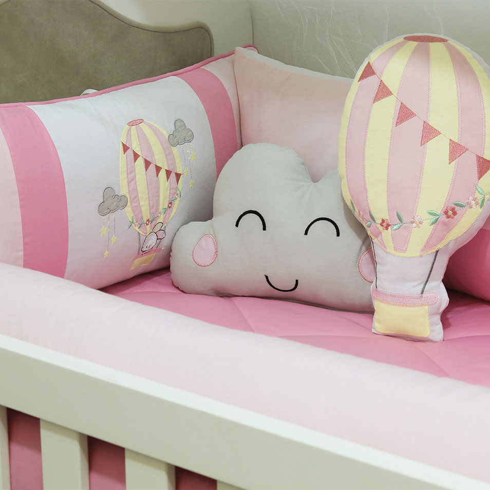 Kit de Berço Balloon 10 Peças  - Toca do Bebê