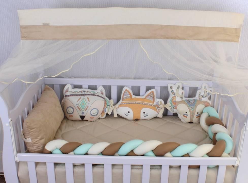 Kit de Berço Amiguinhos Fox 10 Peças   - Toca do Bebê