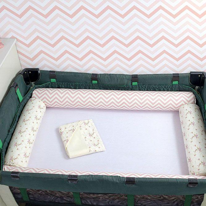 Kit de Berço Desmontável 07 Peças Doçura  - Toca do Bebê
