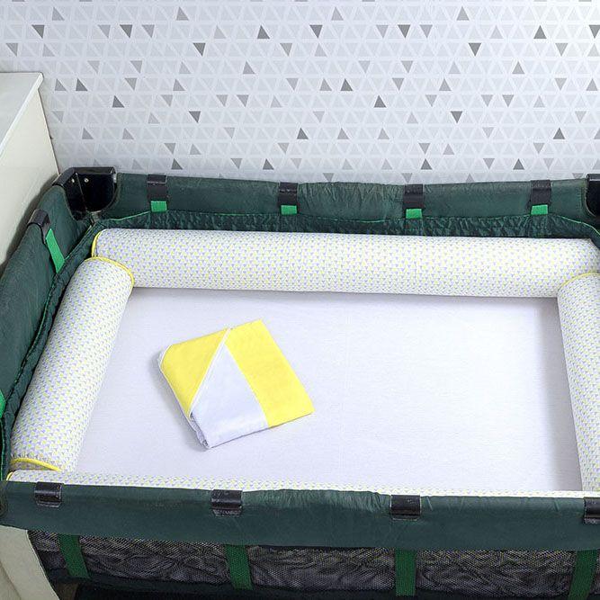 Kit de Berço Desmontável 07 Peças Triângulo Amarelo  - Toca do Bebê