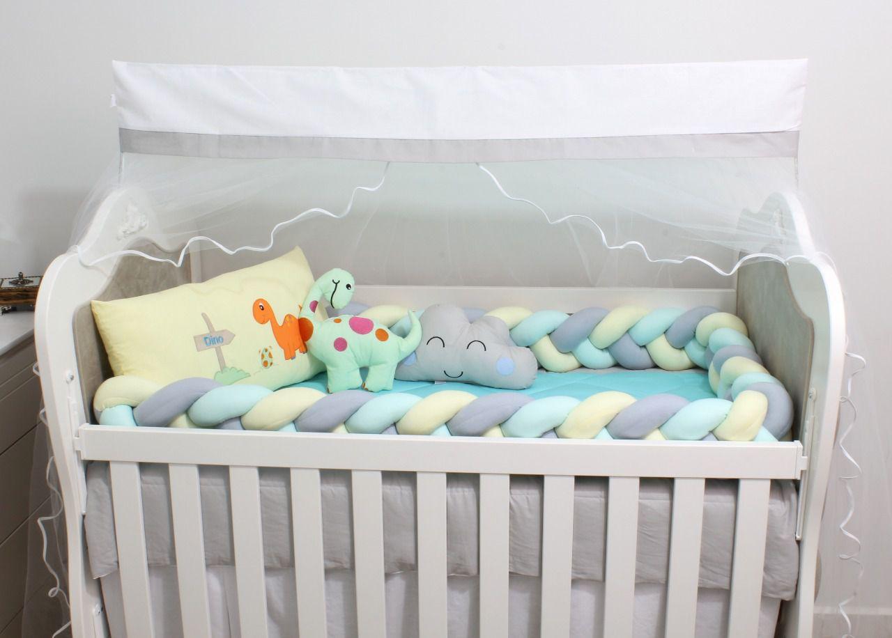 Kit de Berço Dino 08 Peças  - Toca do Bebê