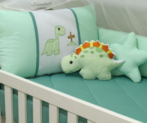 Kit de Berço Dinossauro 10 Peças  - Toca do Bebê