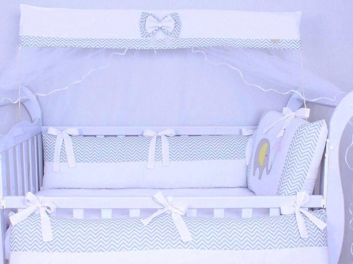 Kit de Berço Elefantinho 09 Peças  - Toca do Bebê