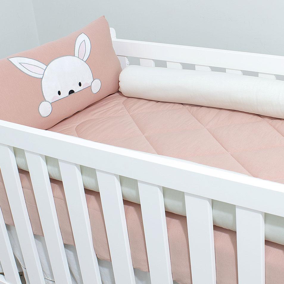 Kit de Berço Malha Coelhinha  - Toca do Bebê