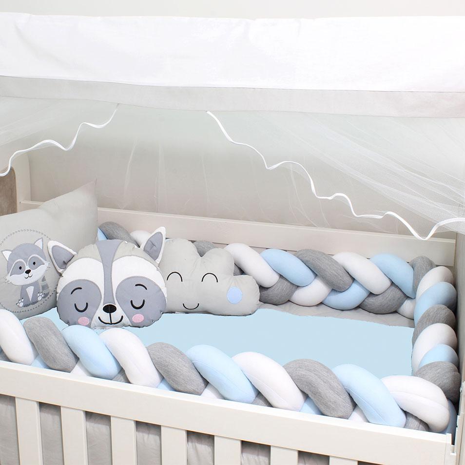 Kit de Berço Guaxinim 08 Peças  - Toca do Bebê
