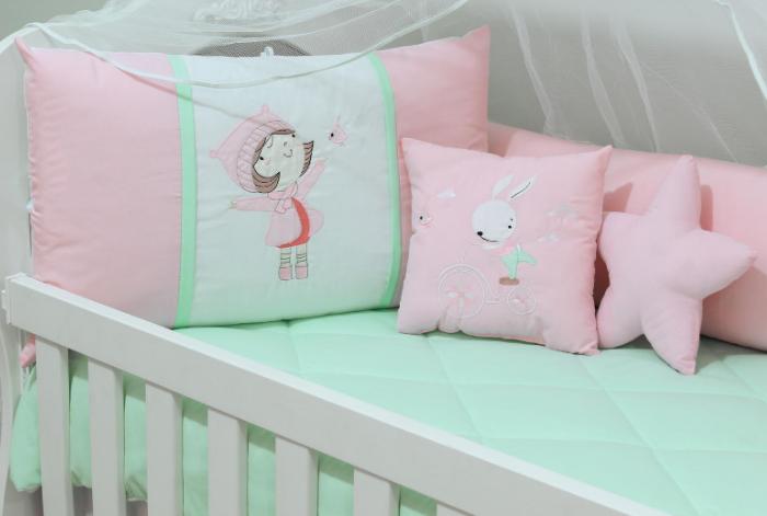 Kit de Berço Hortência 10 Peças  - Toca do Bebê