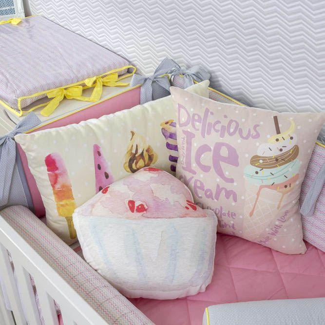 Kit de Berço Love Colors 08 Peças (Padrão Americano)  - Toca do Bebê