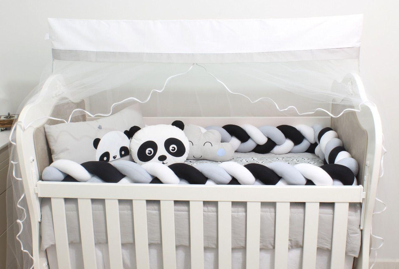 Kit de Berço Panda 08 Peças  - Toca do Bebê