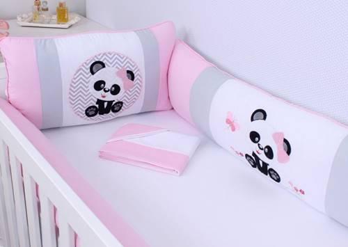 Kit de Berço Ursinha Panda 09 Peças