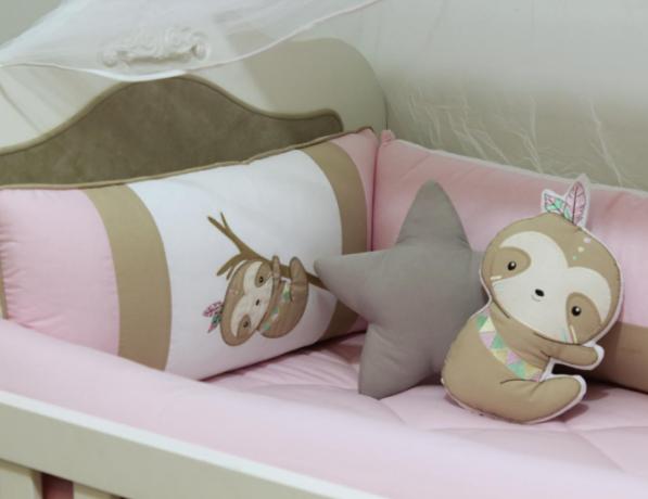 Kit de Berço Preguiça 10 Peças  - Toca do Bebê