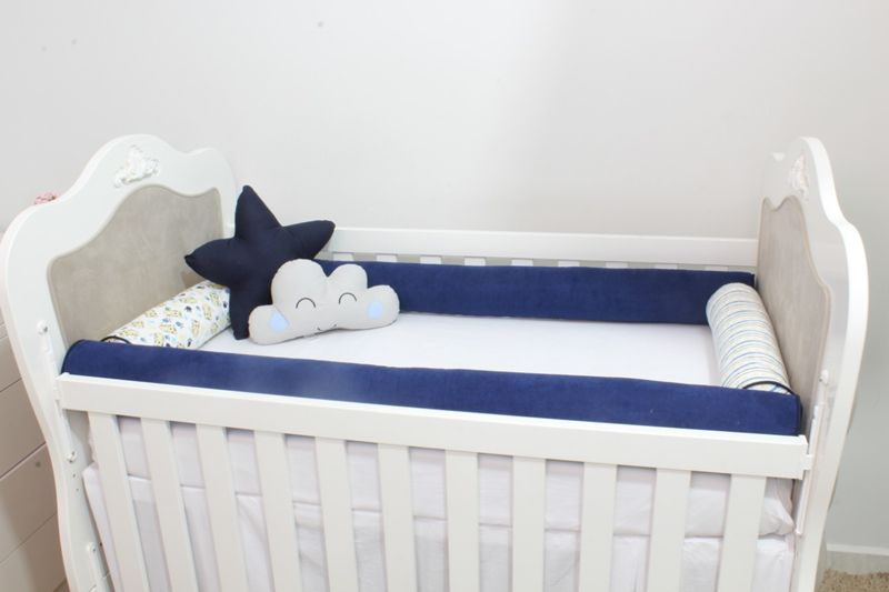 Kit De Berço Rolos 10 Peças Tigre  - Toca do Bebê