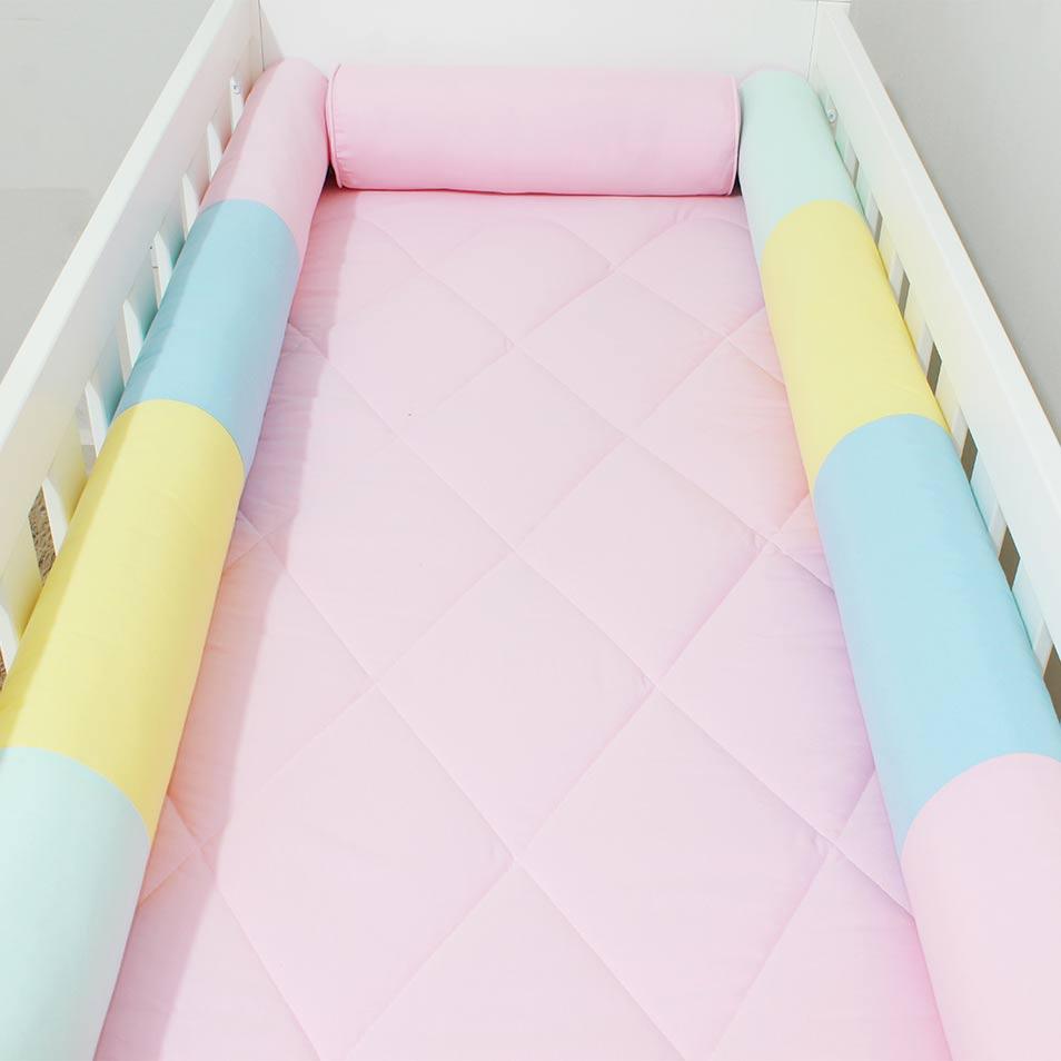 Kit de Berço Rolos Love Colors  - Toca do Bebê