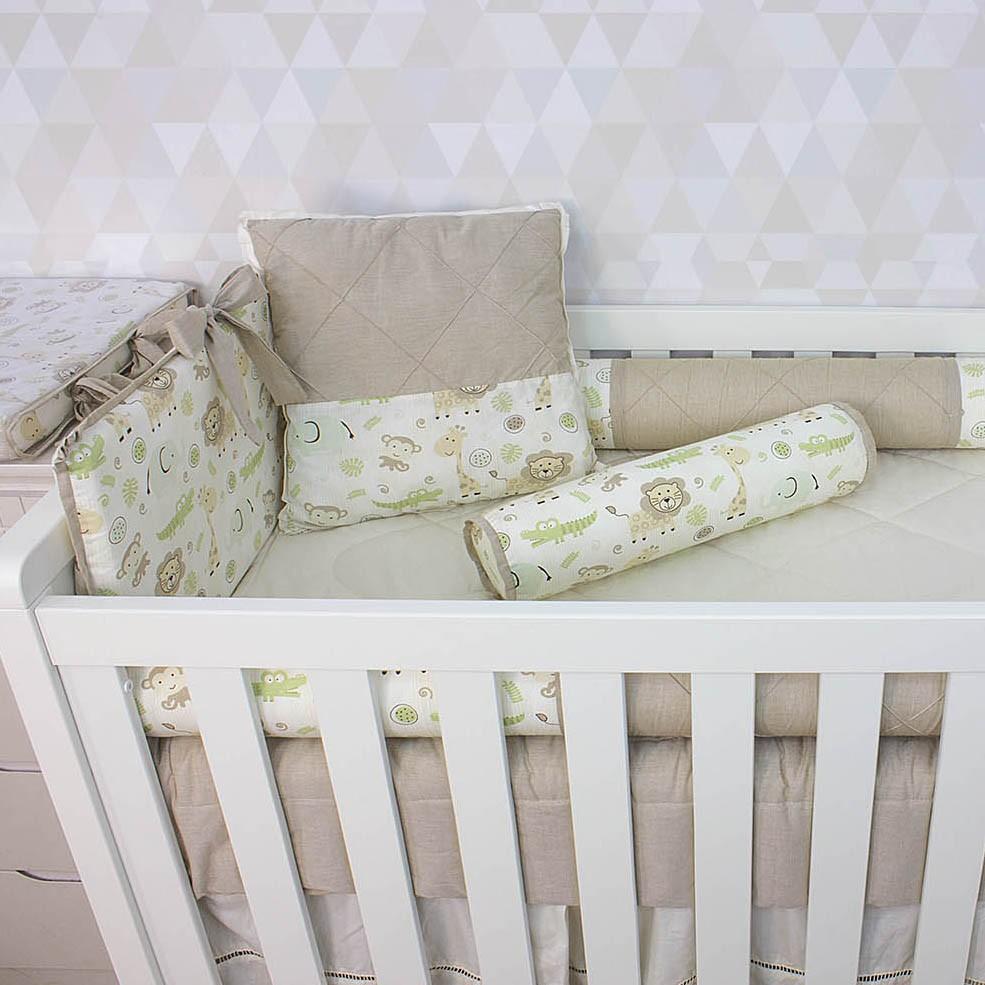 Kit de Berço Selva 08 Peças  - Toca do Bebê