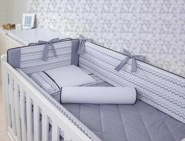 Kit de Berço Spike 08 Peças (Padrão Americano)  - Toca do Bebê