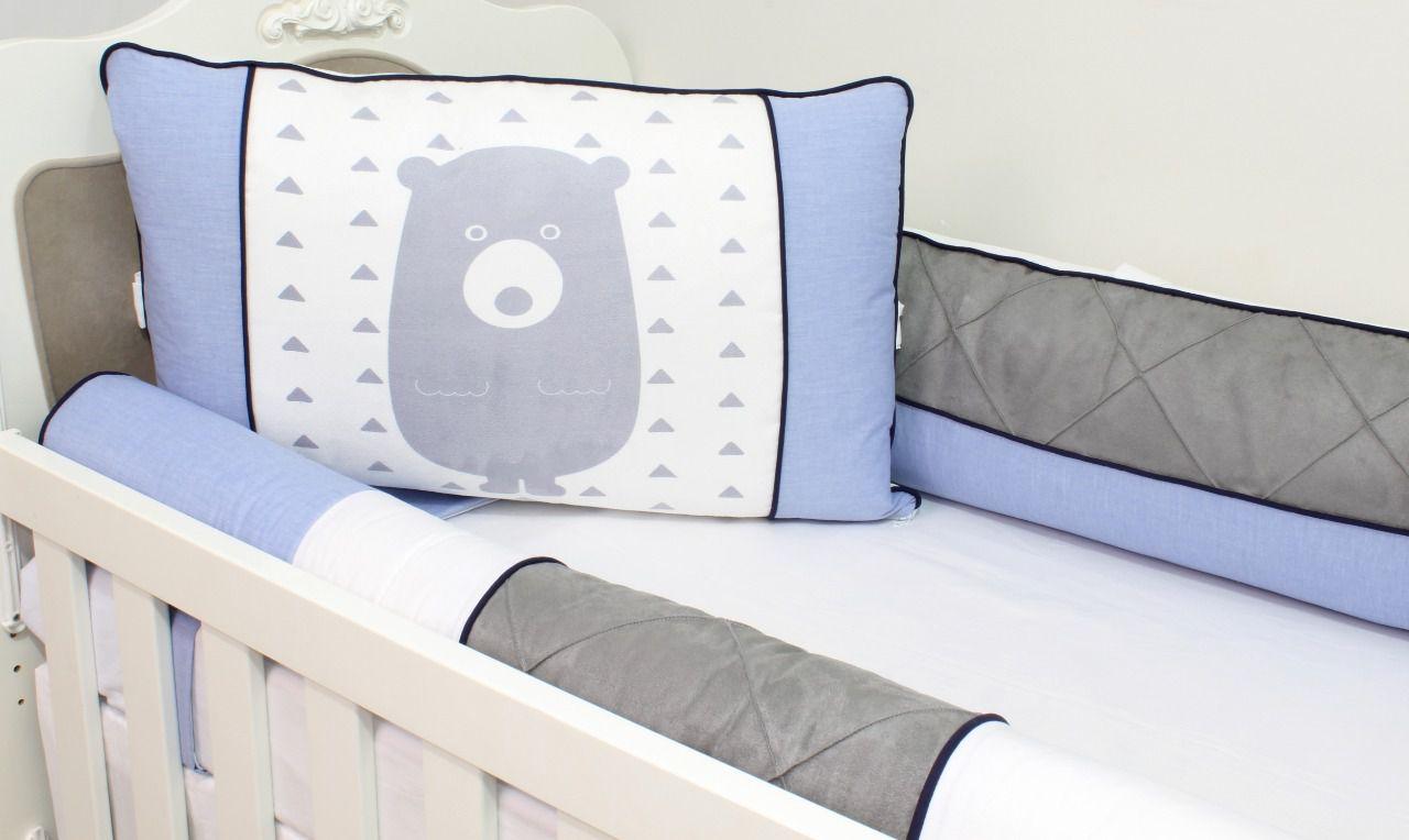 Kit de Berço Sublimado Urso 07 Peças