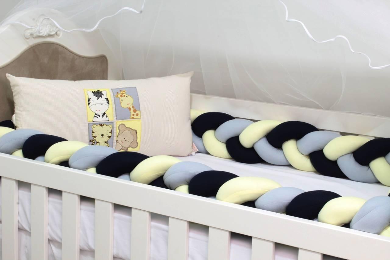 Kit de Berço Trança Baby Zoo 06 Peças