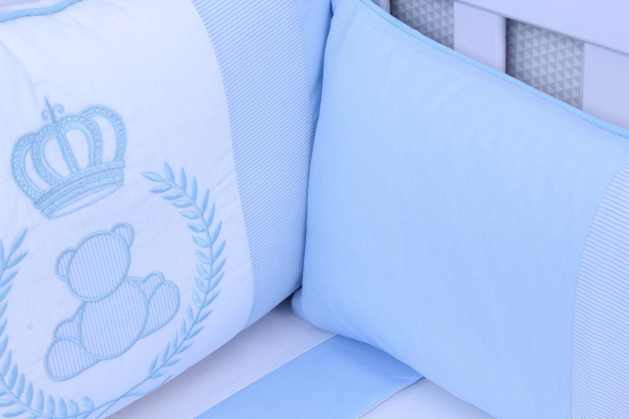 Kit de Berço Príncipe Azul 08 Peças  - Toca do Bebê