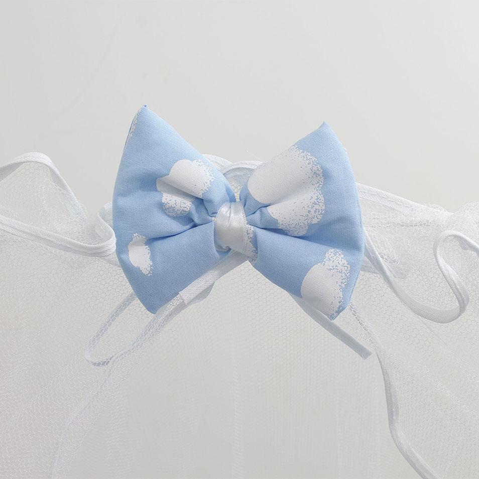 Kit Mini Berço Trança Algodão Doce Azul 07 Peças  - Toca do Bebê