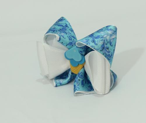 Laço Decorado Sorvete Azul  - Toca do Bebê