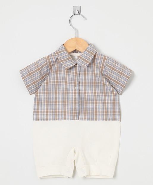 Macacão Curto Camisa Xadrez