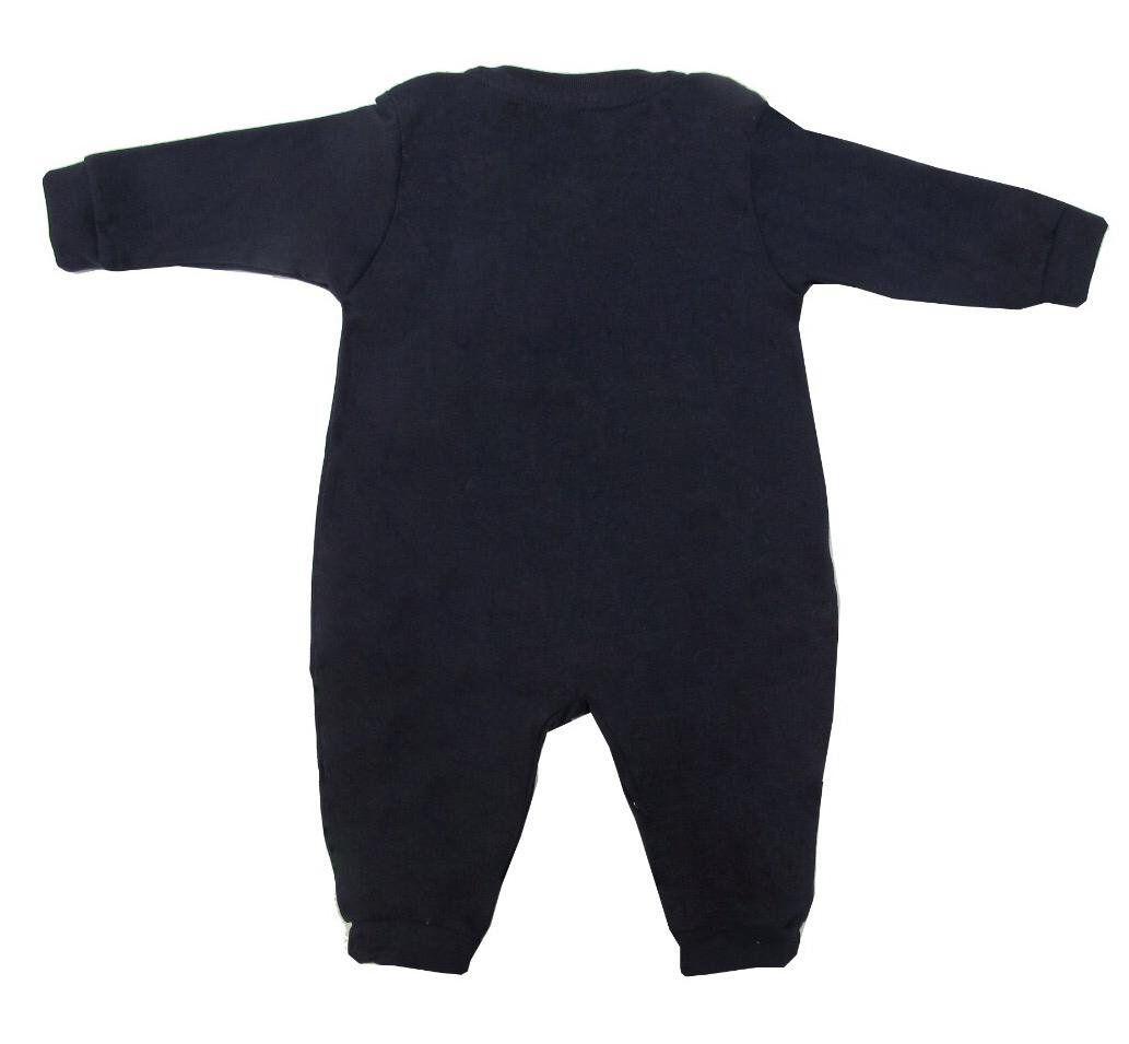 Macacão Manga Longa Estilo Suspensório Azul Marinho   - Toca do Bebê