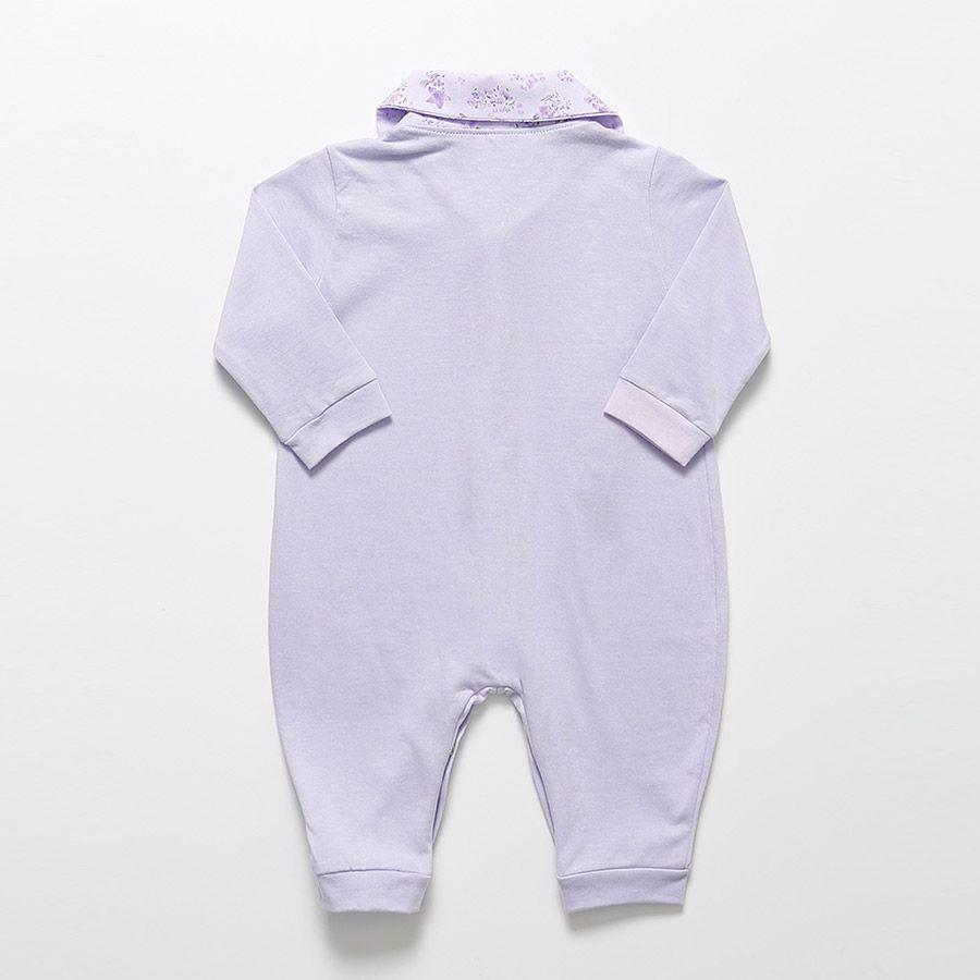 Macacão Longo Lilás Ana Feminino  - Toca do Bebê