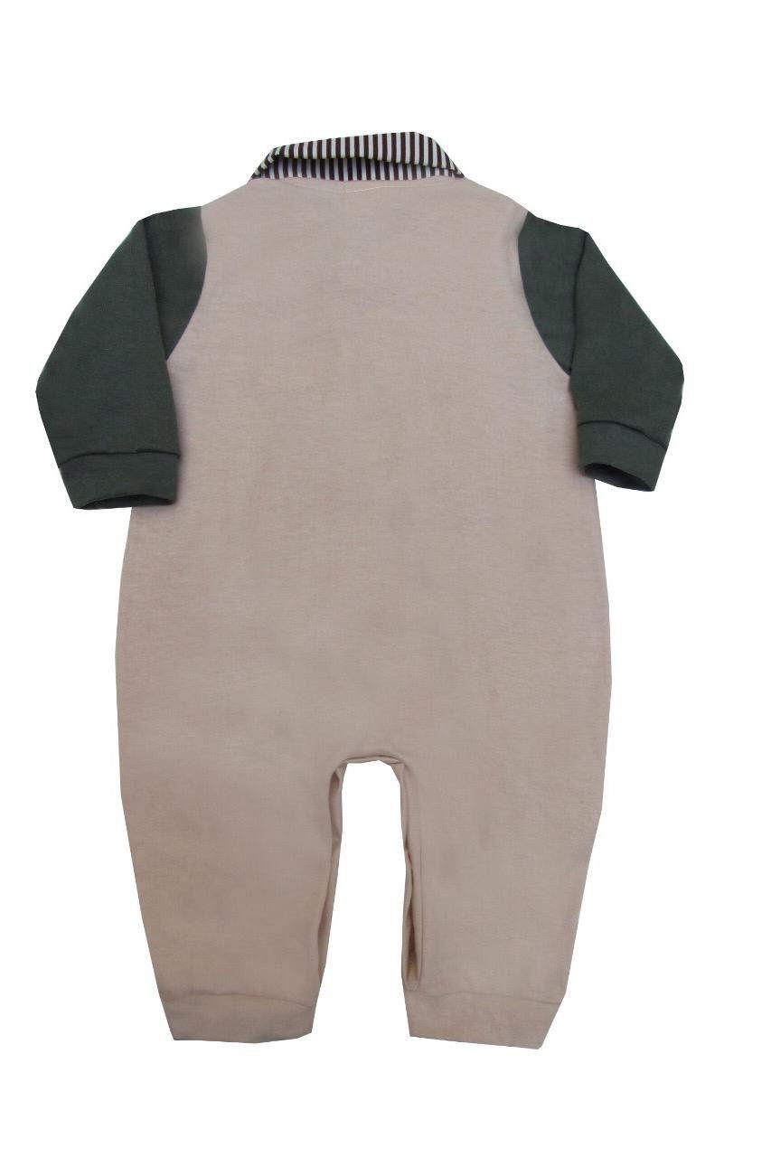 Macacão Longo Listrado Safári  - Toca do Bebê