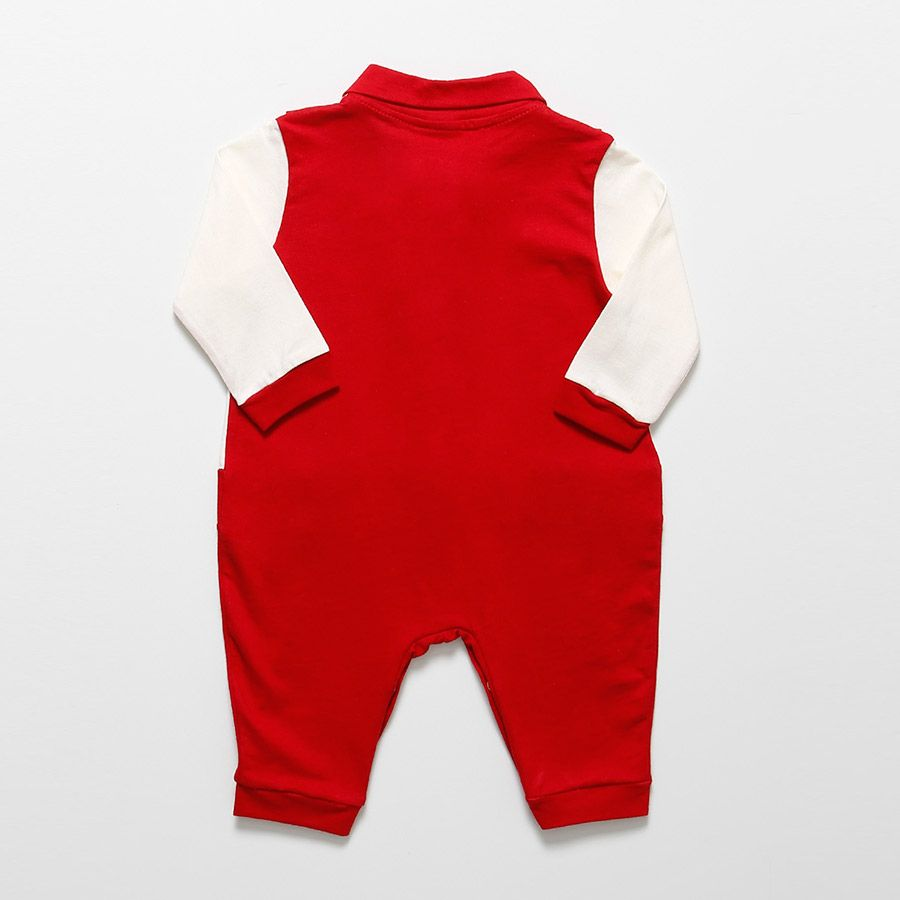 Macacão Longo Vermelho  - Toca do Bebê