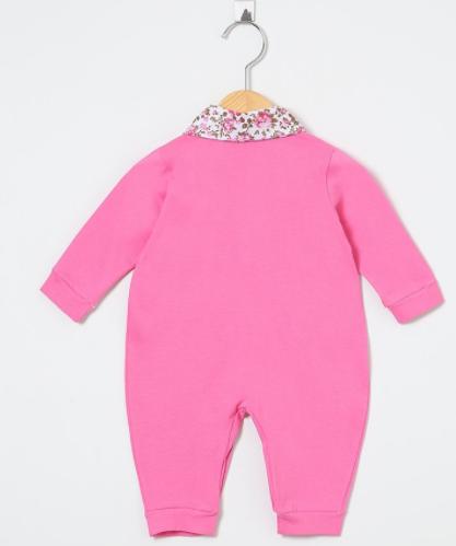 Macacão Manga Longa Floral Pink  - Toca do Bebê