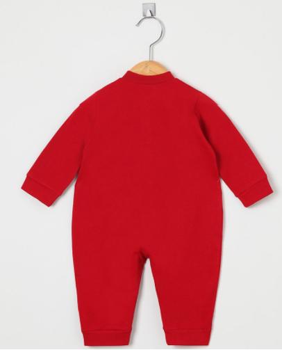 Macacão Manga Longa Joaninha Vermelho  - Toca do Bebê