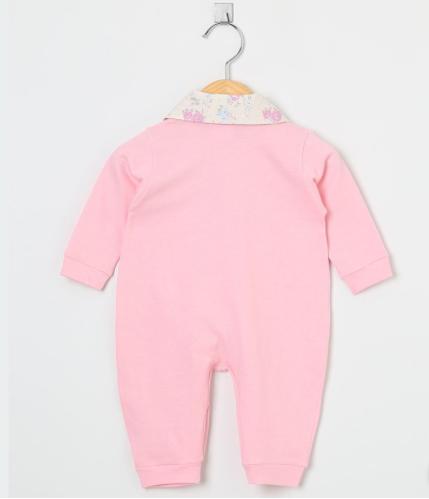 Macacão Manga Longa Laços Floral Rosa  - Toca do Bebê