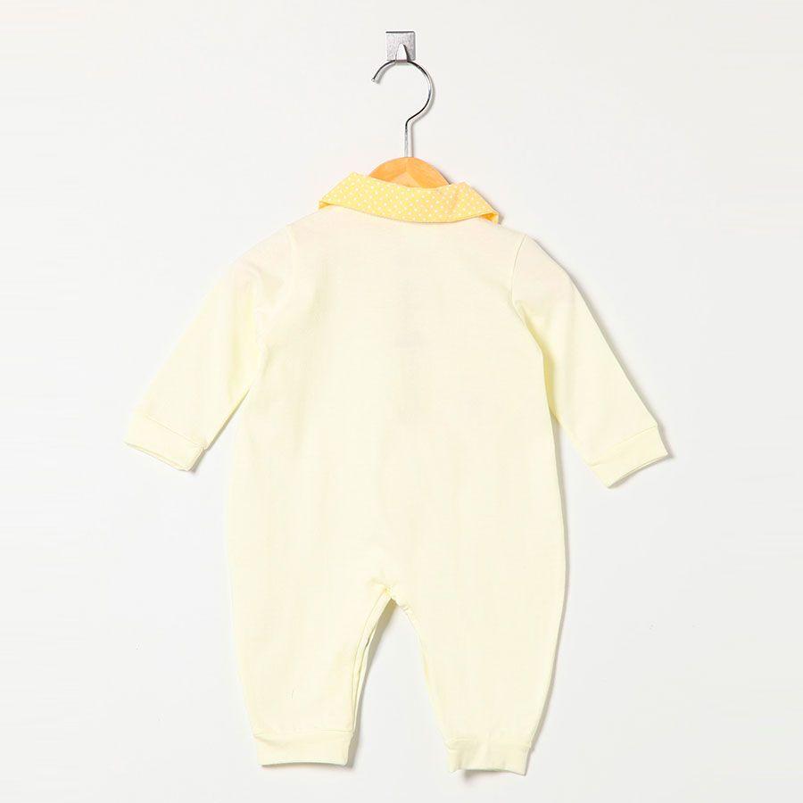 Macacão Manga Longa Malha 100% Algodão Amarelo Unissex  - Toca do Bebê