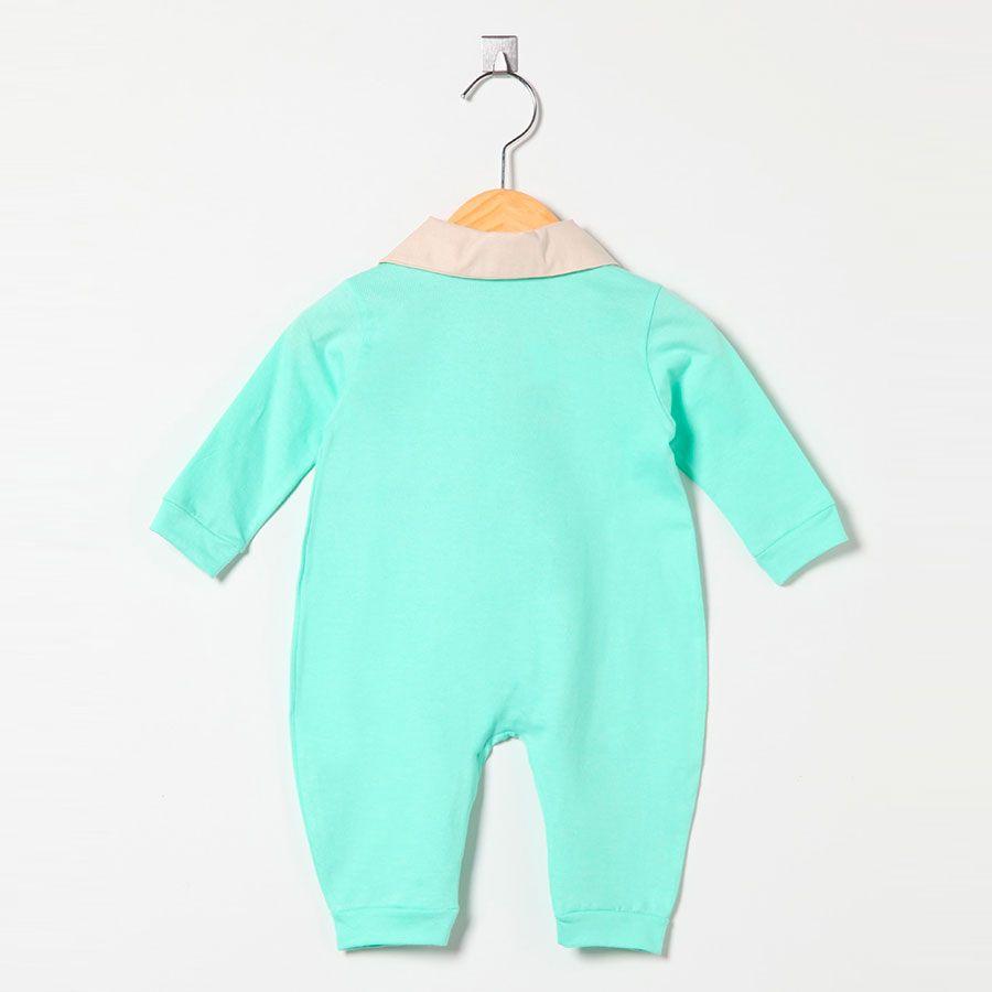 Macacão Manga Longa Malha 100% Algodão Verde Unissex  - Toca do Bebê