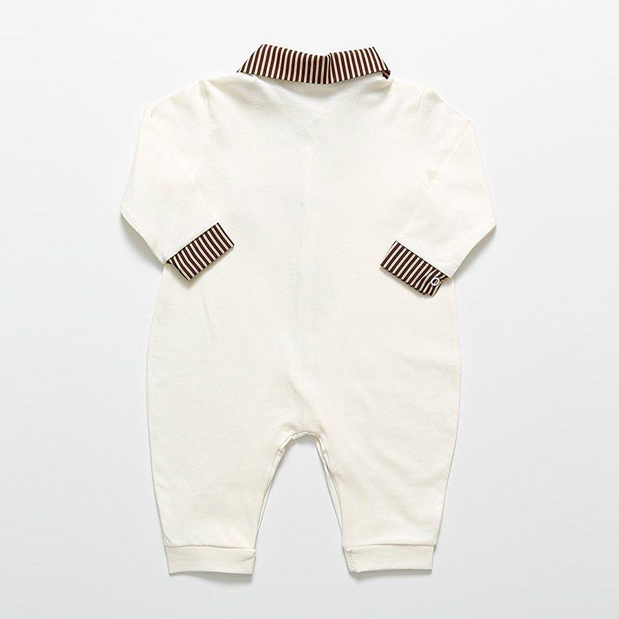 Macacão Manga Longa Palha Leandro Masculino  - Toca do Bebê