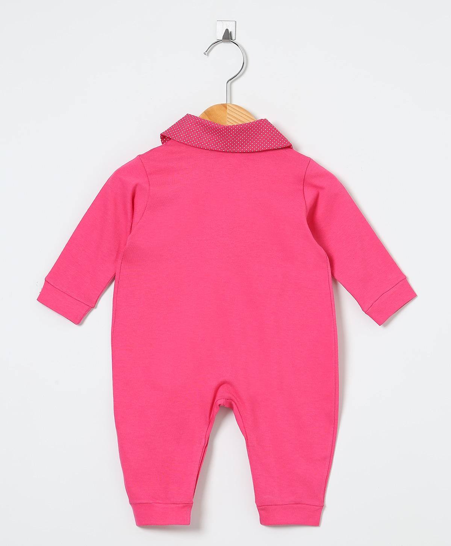 Macacão Manga Longa Pink Lacinhos   - Toca do Bebê
