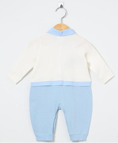 Macacão Manga Longa Sport Azul  - Toca do Bebê