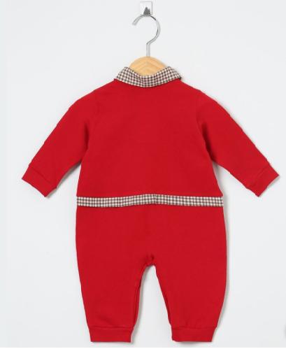 Macacão Manga Longa Totó Vermelho  - Toca do Bebê