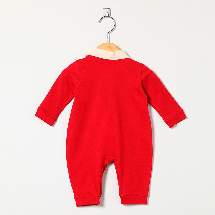 Macacão Masculino em Malha Vermelho Esportes N° 10  - Toca do Bebê